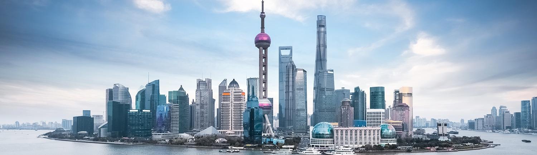 beautiful shanghai skyline and huangpu river , China