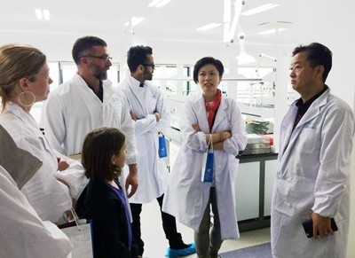 I was pictured (first one from the left) when we visited the state-of-the-art lab in Tianjiang Pharmaceutical.